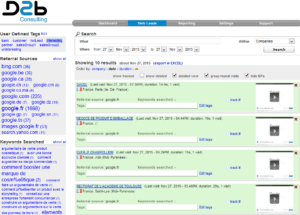 Interface web pour identifier les visiteurs de votre site