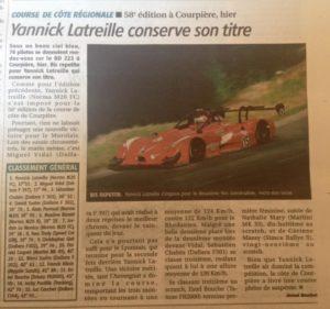 article course de côte Juin 2016