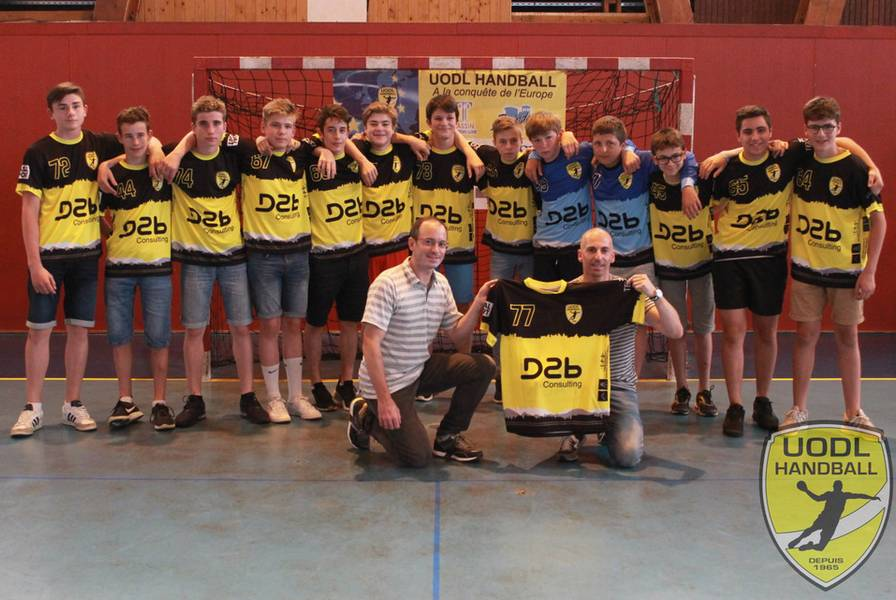 sponsor D2b Consulting UODL Hand Ball
